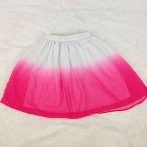 Children's Place Ombre Pink and White Skirt